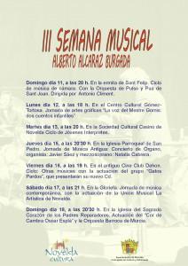 Ayuntamiento de Novelda 2014-05-11-CARTEL-III-SEMANA-MUSICAL-212x300 III Semana Musical Alberto Alcaraz. Ciclo de música de cámara, en la ermita de San Felipe.