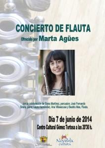 Ayuntamiento de Novelda 2014-06-07-CARTEL-CONCIERTO-DE-FLAUTA-212x300 Concierto de flauta ofrecido por Marta Agües, en el Centro Cultural Gómez-Tortosa.