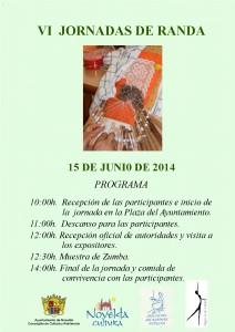 Ayuntamiento de Novelda 2014-06-15-CARTEL-RANDA-2014-212x300 VI Jornada de Randa, en la Plaça Vella.