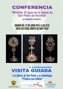 Ayuntamiento de Novelda 2014-06-21-CARTEL-CONFERENCIA-EL-AJUAR-DE-LA-IGLESIA-DE-SAN-PEDRO-212x300 Conferencia, en el Espai Cultural Ermita de Sant Felip. A continuación, visita guiada a la Iglesia de San Pedro.