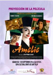 """Ayuntamiento de Novelda 2014-09-13-CARTEL-CINE-AMELIE-212x300 Septiembre de cine. con la proyección de la película """"Amelie"""", en el Espai Cultural Ermita San Felip."""