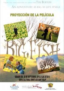 """Ayuntamiento de Novelda 2014-09-20-CARTEL-CINE-BIG-FISH-212x300 Septiembre de cine. con la proyección de la película """"Big Fish"""", en el Espai Cultural Ermita San Felip."""