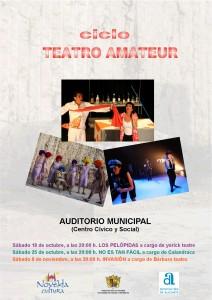 """Ayuntamiento de Novelda PORTADA-CICLO-CINE-AMATEUR-212x300 Ciclo de Teatro Amateur. Representación de la obra """"No es tan fácil"""" a cargo del grupo """"Calandraca"""""""