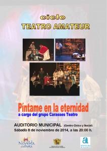 """Ayuntamiento de Novelda 2014-11-08-CARTEL-TEATRO-PINTAME-EN-LA-ETERNIDAD-212x300 Ciclo de Teatro Amateur con la obra """"Píntame en la eternidad"""", en el Auditorio Municipal."""