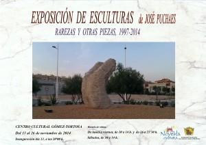 """Ayuntamiento de Novelda 2014-11-13-CARTEL-EXPOSICION-DE-ESCULTURA-DE-JOSE-PUCHAES-300x212 Exposición de esculturas """"Rarezas y otras piezas, 1997-2014"""" de José Puchaes,  en el  Centro  Cultural Gómez-Tortosa."""