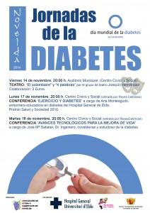 """Ayuntamiento de Novelda 2014-11-14-I-JORNADAS-DIABETES-nuevo-212x300 I Jornadas de la diabetes. Teatro """"El colombaire"""" y """"4 palabras"""", en el Auditorio Municipal."""