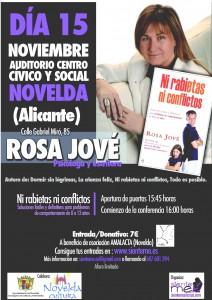 """Ayuntamiento de Novelda 2014-11-15-CARTEL-NI-RABIETAS-NI-CONFLICTOS-212x300 Conferencia """"Ni rabietas ni conflictos"""", en el Auditorio Municipal."""