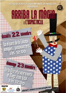 Ayuntamiento de Novelda 2014-11-22-Cartel-PISSIGALLA-212x300 Animación circense y cuentacuentos infantil, en el parque de la Tahona..