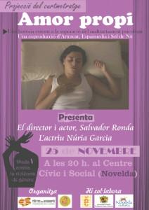 """Ayuntamiento de Novelda 2014-11-25-curt.amorpropi-212x300 Proyección del cortometraje """"Amor propio"""", en el Auditorio Municipal."""