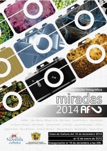 """Ayuntamiento de Novelda 2014-12-18-CARTEL-EXPOSICION-FOTOGRAFICA-212x300 Exposición fotográfica """"Miradas 2014"""", en la Casa de Cultura."""