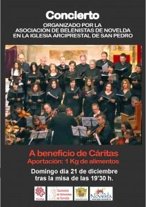 """Ayuntamiento de Novelda 2014-12-21-CONCIERTO-DE-NAVIDAD-SOLIDARIO-212x300 Concierto Solidario ofrecido por el """"Cor de Cambra Ars Nova"""", en la Parroquia de San Pedro."""