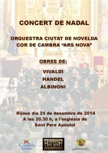 """Ayuntamiento de Novelda 2014-12-25-CONCERT-DE-NADAL-212x300 Concierto de Navidad ofrecido por el """"Cor de Cambra Ars Nova"""", en la Parroquia de San Pedro."""