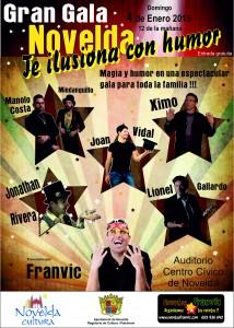 """Ayuntamiento de Novelda 2015-01-04-GRAN-GALA-DE-MAGIA-214x300 Gran Gala """"Novelda te ilusiona con humor"""", en el Auditorio Municipal."""