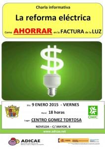 """Ayuntamiento de Novelda 2015-01-09-CHARLA-ADICAE-Reforma-Electrica-212x300 Charla """"Reforma eléctrica. Aprende a ahorrar en la factura de la luz"""", en el Centro Cultural Gómez-Tortosa."""