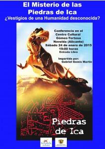 """Ayuntamiento de Novelda 2015-01-24-CARTEL-CONFERENCIA-LAS-PIEDRAS-DE-ICA-212x300 Conferencia """"Los misterios de las piedras de ICA"""", en el Centro Cultural Gómez-Tortosa."""