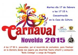 Ayuntamiento de Novelda 2014-02-17-CARTEL-CARNAVAL-2015-300x212 Concentración de Carnaval 2015, en la Casa de Cultura.