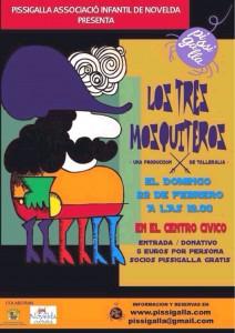 """Ayuntamiento de Novelda 2015-02-22-TEATRO-PISSIGALLA-212x300 Teatro. """"Los tres mosqueteros"""", en el Auditorio Municipal."""
