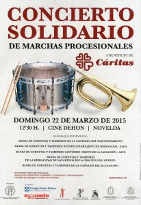 Ayuntamiento de Novelda 2015-03-22-CONCIERTO-SOLIDARIO-206x300 Concierto solidario de bandas de tambores y cornetas, en el Colegio Padre Dehon.