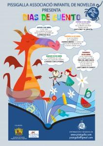 """Ayuntamiento de Novelda 2015-01-02-CARTEL-PROGRAMACION-PISSIGALLA-212x300 Teatro infantil """"La llegenda de Sant Jordi i altres dracs"""", en el Espai Cultural Ermita de Sant Felip."""