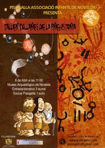 """Ayuntamiento de Novelda 2015-04-08-CARTEL-MUSEO-PISSIGALLA-212x300 Taller didáctico. """"Joyas de la Prehistoria"""",  en el Museo Arqueológico."""