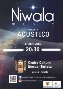 """Ayuntamiento de Novelda 2015-04-17-CARTEL-CONCIERTO-NIWALA-212x300 Concierto acústico """"Un paseo por las baladas de los últimos años del pop-rock-blues"""", en el Centro Cultural Gómez-Tortosa."""