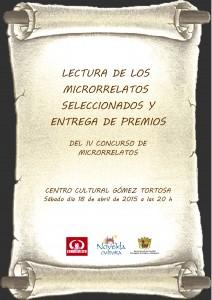 Ayuntamiento de Novelda 2015-04-18-CARTEL-LECTURA-IV-CONCURSO-DE-MICRORRELATOS-212x300 Lectura y entrega de premios del IV Concurso de Microrrelatos