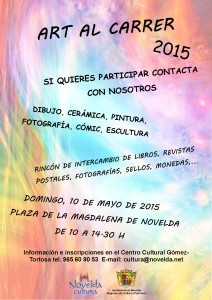 """Ayuntamiento de Novelda 2015-05-10-CAR-CAS-ANUNCIADOR-ART-AL-CARRER1-212x300 """"Art al Carrer"""" 2015 Información e inscripciones"""