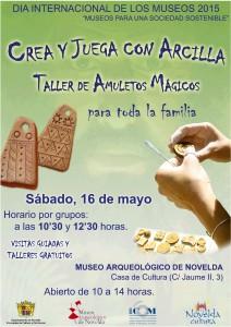 """Ayuntamiento de Novelda 2015-05-16-CARTEL-DIA-MUSEOS-212x300 Día Internacional de los Museos """"Museos para una sociedad sostenible"""", en el Museo Arqueológico."""