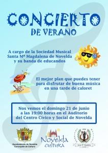 """Ayuntamiento de Novelda 2015-06-21-CONCIERTO-VERANO-S.M.-MAGDALENA-212x300 Concierto de verano ofrecido por la Sociedad Musical """"Santa María Magdalena"""", en el Auditorio Municipal."""