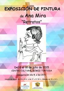 """Ayuntamiento de Novelda 2015-07-08-EXPO-ANA-MIRA-212x300 Exposición de pintura de Ana Mira, """"Retratos"""", en el Centro Cultural Gómez-Tortosa."""