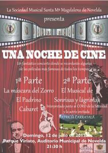 """Ayuntamiento de Novelda 2015-07-12-MUSICAL-S-M-MAGDALENA-212x300 Musical """"Una noche de cine"""",  en el Parque  Auditorio (C/ Viriato)."""