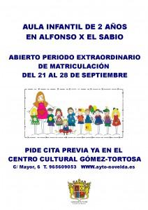 Ayuntamiento de Novelda CARTEL-MATRICULACION-CARMEN-VALERO-212x300 Se inicia el periodo de matriculación para el aula de infantil dos años en el Alfonso X El Sabio