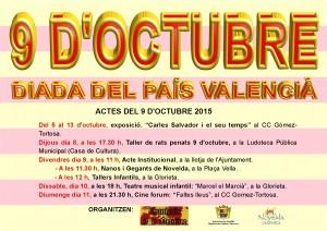 Ayuntamiento de Novelda 2015-10-09-CARTEL-9-DE-OCTUBRE-300x212 Actos organizados para la celebración del 9 d'octubre