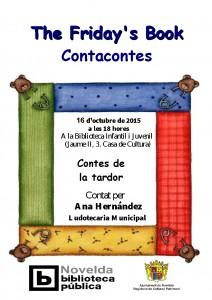 """Ayuntamiento de Novelda 2015-10-16-CONTACONTES-LUDOTECA-212x300 The Friday`s Book. Cuentacuentos """"Contes de la tardor"""", en la biblioteca infantil juvenil."""
