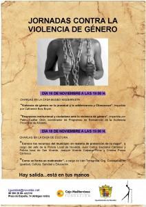 """Ayuntamiento de Novelda 2015-11-05-CARTEL-VIOLENCIA-DE-GENERO-212x300 Charlas. """"Conoce los recursos del municipio en materia de protección de la mujer"""",  """"Como se forma un maltratador"""", en la Casa de Cultura."""