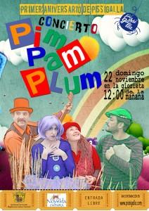 """Ayuntamiento de Novelda 2015-11-22-CONCIERTO-PIM-PAM-PLUM-212x300 Fiesta aniversario de Pissigalla, por el Grupo de Música Infantil """"Pim pam plum"""", en la Glorieta."""