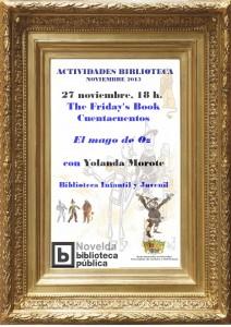 """Ayuntamiento de Novelda 2015-11-27-CUENTACUENTOS-EL-MAGO-DE-OZ-212x300 Cuentacuentos. """"El Mago de Oz"""", en Biblioteca Infantil y Juvenil."""