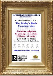 """Ayuntamiento de Novelda 2015-12-11-CUENTACUENTOS-BIBLIOTECA-212x300 Cuentacuentos. """"Cuentos Egipcios"""" a cargo de Rubén Mira, en la Biblioteca Infantil y Juvenil."""