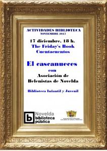 """Ayuntamiento de Novelda 2015-12-17-FRIDAYS-BOOK-EL-CASCANUECES-212x300 Friday's Book. Cuentos de Navidad """"El Cascanueces"""", en la Biblioteca Infantil y Juvenil."""