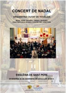 """Ayuntamiento de Novelda 2015-12-25-CONCERT-DE-NADAL-212x300 Concierto de Navidad, por la """"Orquestra Ciutat de Novelda"""", en la Iglesia Parroquial de San Pedro."""