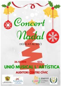 """Ayuntamiento de Novelda 2015-12-26-CONCIERTO-NAVIDAD-LA-ARTISTICA-212x300 Concierto de Navidad, interpretado por la Unión Musical """"La Artística"""", en el Auditorio Municipal."""