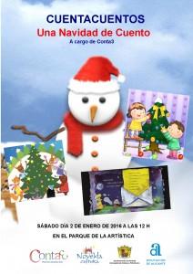 """Ayuntamiento de Novelda 2016-01-02-CUENTOS-DE-NAVIDAD-212x300 Cuentacuentos """"Una Navidad de Cuento"""", en parque de La Artistica."""