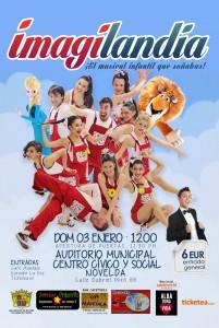 Ayuntamiento de Novelda 2016-01-03-flyer-imagilandia-201x300 El Centro Cívico acogerá dos espectáculos infantiles a beneficio de la Asociación Alba Dona Vida