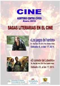 Ayuntamiento de Novelda 2016-01-09-SAGAS-LITERARIAS-Y-CINE-212x300 Cine. Sagas literarias en el cine, en Auditorio Municipal.