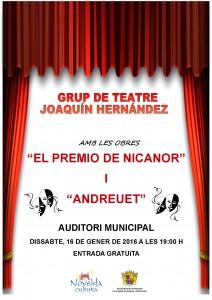 Ayuntamiento de Novelda 2016-01-16-TEATRO-JOAQUIN-HERNANDEZ-212x300 Actuación del Grupo de Teatro: Joaquín Hernández, en el Auditorio Municipal.