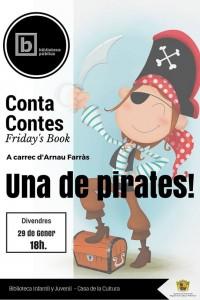 """Ayuntamiento de Novelda 2016-01-29-FRIDAYS-BOOK-UNA-DE-PIRATES-200x300 Cuentacuentos. Friday's Book. """"Una de pirates"""", en la Biblioteca Infantil y Juvenil."""