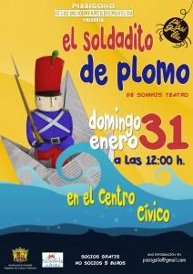 """Ayuntamiento de Novelda 2016-01-31-EL-SOLDADITO-DE-PLOMO-212x300 Teatro Infantil """"El Soldadito de Plomo"""", en Auditorio Municipal."""