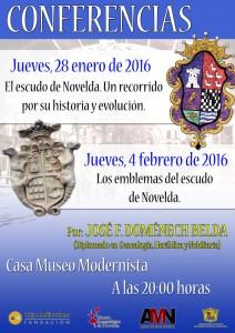 """Ayuntamiento de Novelda 2016-01-28-CONFERENCIA-EL-ESCUDO-DE-NOVELDA-212x300 Conferencia. """"Los emblemas del escudo de Novelda"""", en la Casa Museo Modernista"""