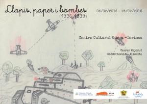 "Ayuntamiento de Novelda 2016-02-05-LLAPIS-PAPERS-I-BOMBES-300x212 Exposición. ""Llapis, papers i bombes 1936-1939"",  en el Centro Cultural Gómez-Tortosa."