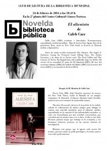 """Ayuntamiento de Novelda 2016-02-24-CLUB-DE-LECTURA-212x300 Club de lectura """"El alienista"""", en el Centro Cultural Gómez-Tortosa."""